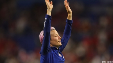 Megan Rapinoe at the World Cup in France