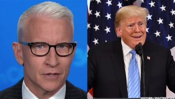 Anderson Cooper is livid after the latest departure from reality by President Trump