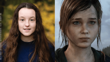 Bella Ramsey and Ellie from The Last of Us