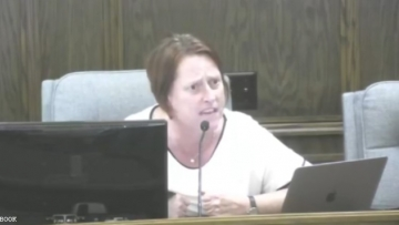 Out North Dakota City Council Member Carrie Evans delivers epic rant for homophobe objecting to pride flag flown outside city hall.