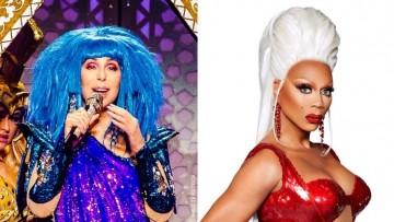 Cher and RuPaul