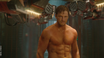 Shirtless Chris Pratt as Star-Lord