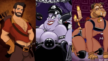 Disney characters as gay and kinky icons.
