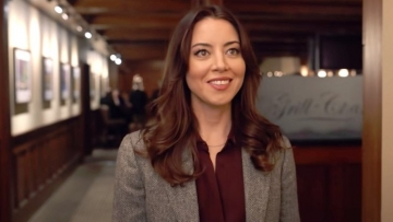 Aubrey Plaza in Happiest Season.