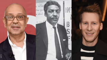 George C. Wolfe, Bayard Rustin, and Dustin Lance Black