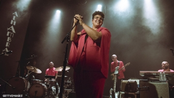 Brittany Howard performing.