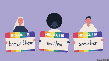 Pronoun labels.