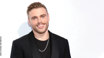 Gus Kenworthy and one of his dogs
