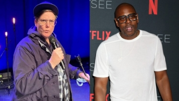 Hannah Gadsby and Dave Chappelle