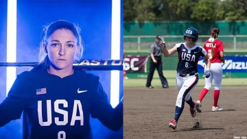 Out gay Team USA softball star Haylie McCleney reveals the memorable moment she proposed to Kaylee Hanson.