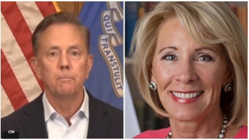 Governor Ned Lamont tells Education Secretary Betsy DeVos to Butt Out after threats of withholding federal funds over trans student athletes and Title IX violations