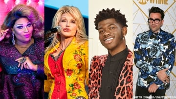 Dolly Parton, Lil Nas X, and Dan Levy