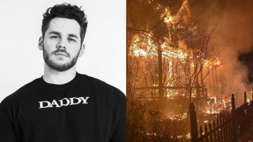 Matthew Camp's home set ablaze