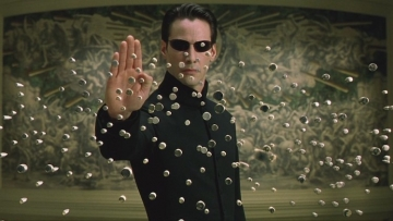 Neo stopping bullets on The Matrix