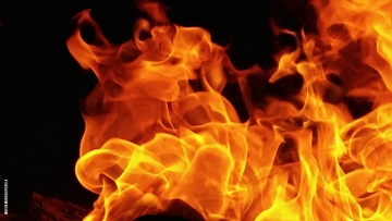 Photo of flames.