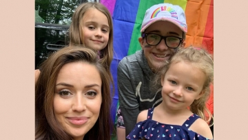 Ava Mackin is getting business to hang rainbow flags in honor of Pride.