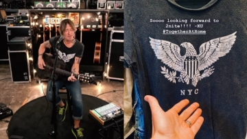 Keith Urban in The Eagle gay bar shirt.
