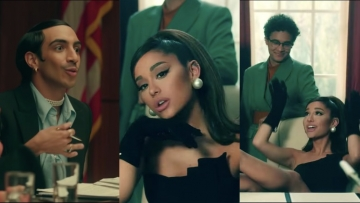 Ariana Grande and queer friends in Promises.