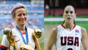 Megan Rapinoe and Sue Bird