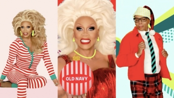 RuPaul in stills from Old Navy ad.