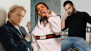 A triptych of Ronan Farrow, Young M.A, and Nicolas Ghesquiere.