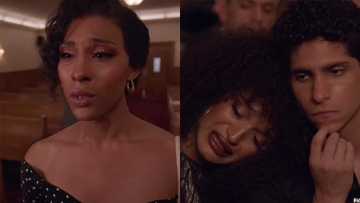 Mj Rodriguez and Indya Moore crying on Pose