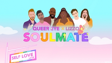 """Lizzo and Queer Eye cast team up for an animated video where the Fab Five perform her hit self-love single """"Soulmate"""""""