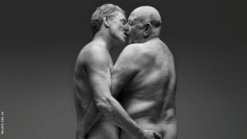 Aging Gay Couple Mark and Andrew Featured on Billboard in New Intimacy Ad Campaign