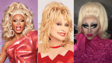 RuPaul, Trixie Mattel and Dolly Parton.