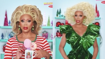 RuPaul in Old Navy Holiday show