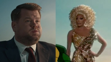 RuPaul and James Corden in Paramount ad