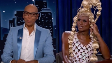 RuPaul and Symone on Jimmy Kimmel Live.