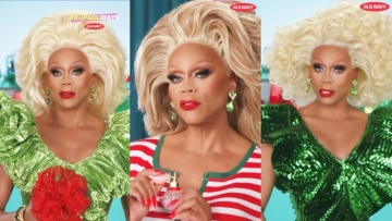 RuPaul in Old Navy Holiday show, RuPaulidays.