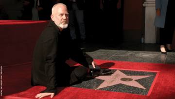 Ryan Murphy on the Hollywood walk of fame.