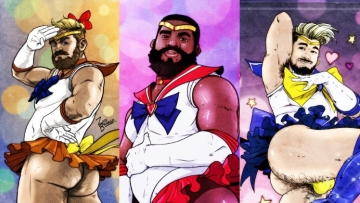Sailor Scouts as gay men art by Zachary Brunner