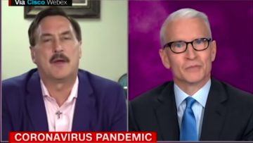 Anderson Cooper and Mike Lindell
