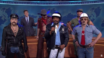 SNL cast as Village People.