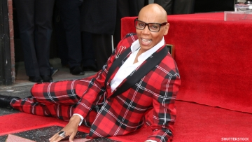 RuPaul on the Hollywood Walk of FAme