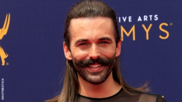 Jonathan Van Ness on a red carpet.