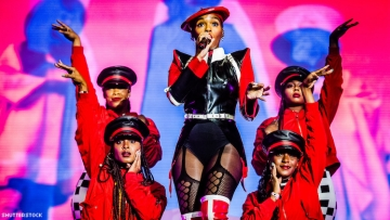 Janelle Monae in a performance.