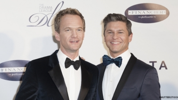 Neil Patrick Harris, David Burtka on red carpet