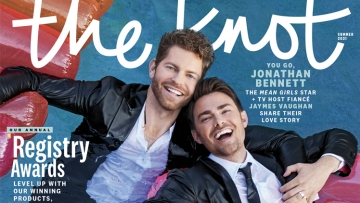 The Knot cover feature Jonathan Bennett and Jaymes Vaughn