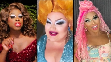 Shangela, Bob the Drag Queen, and Eureka in voting PSA