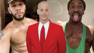Wolf Hudson and John Waters
