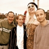 Randy Barbato (left) and Fenton Bailey with Macaulay Culkin and Marilyn Manson in 'Party Monster'