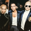 Rousteing with Kim K & Jared Leto