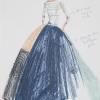 Sketch for Elevator Pad Gown, Couture 2003