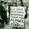 Protestor at NYU's Weinstein Hall, Kay Tobin, Diana Davies, 1970. Courtesy of New York Public Library Archives.
