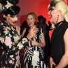 Honoree Cynthia Nixon, center, flanked by Bianca Del Rio and Jodie Harsh