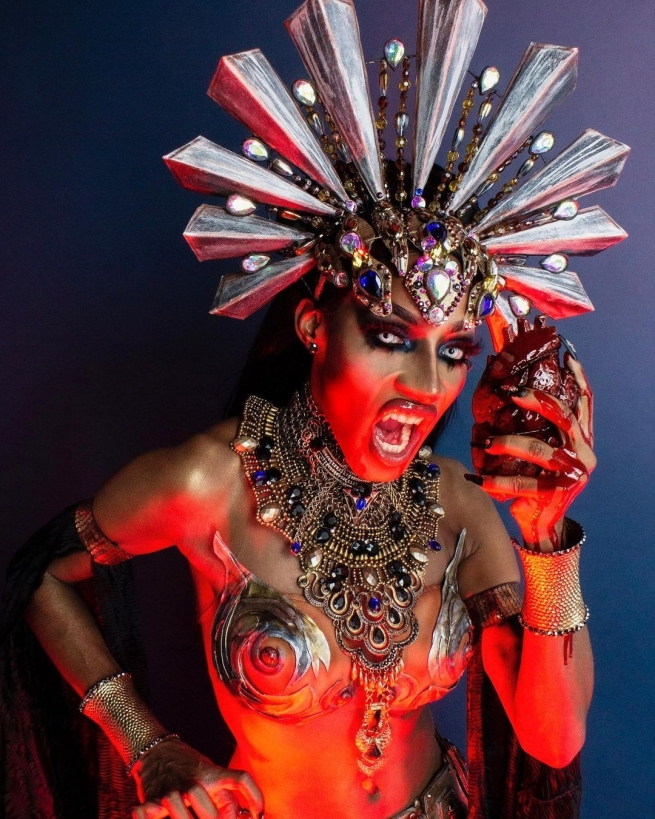 Jaida Essence Hall as Queen Akasha Halloween 2020
